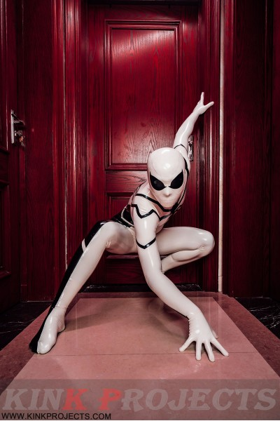 Male 'White Steppe' Spidey Catsuit