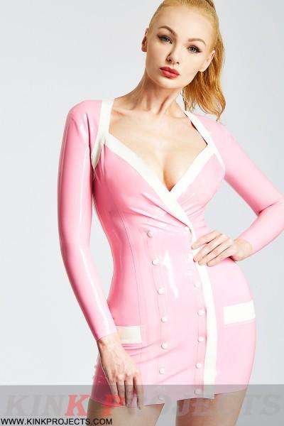 Pink Nurse Uniform Mini Dress