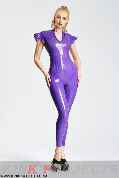 (Stock Clearance)  Lotus Sleeves Tight Catsuit