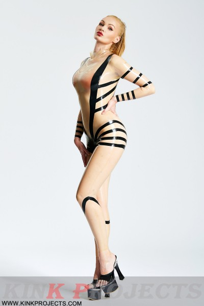 (Stock Clearance)  The 'Entwiner' Translucent Catsuit