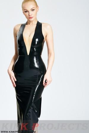 (Stock Clearance)'Vivian' Deep V Halter-neck Midi Dress