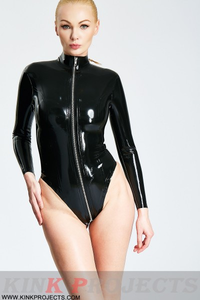 Black Elegance Long-Sleeved Leotard