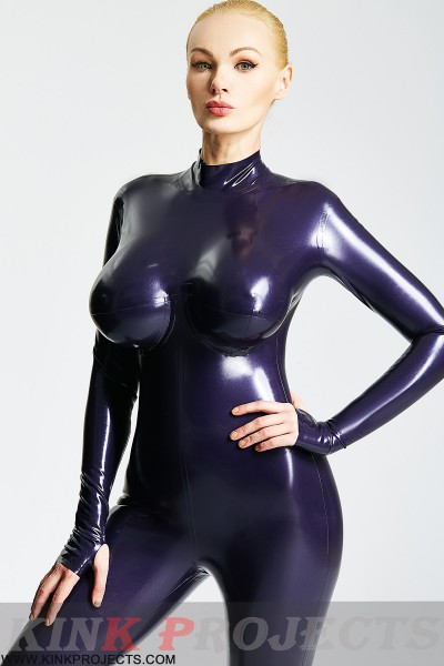 Silicone Breasts Catsuit