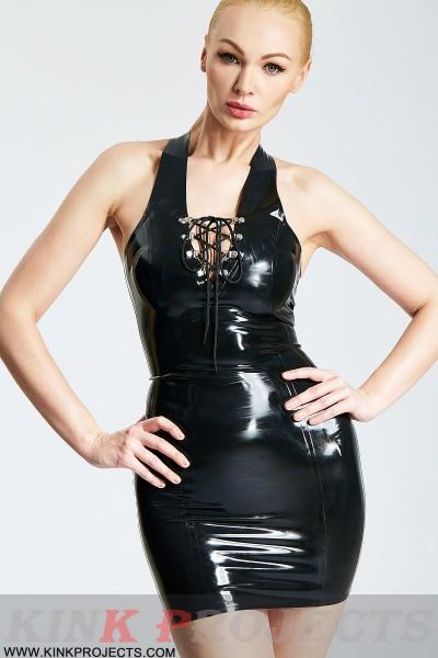 Laced Halter-Neck Micro Dress