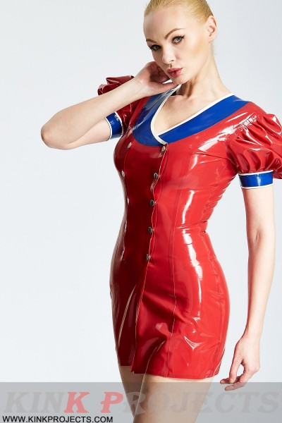 'Patriotic' Double-Breasted Micro Dress