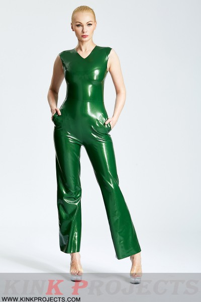 (Stock Clearance) Sexy '70s V-Neck Sleeveless Pants Suit