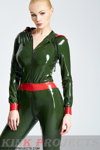 (Stock Clearance)  Drawstring-Hooded Female Casual Catsuit