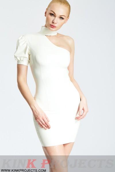 'Alicia' Asymmetric One-Shoulder Mini Dress