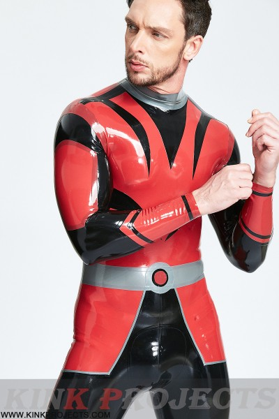 (Stock Clearance) Male 'Space Force' Back Zip Catsuit