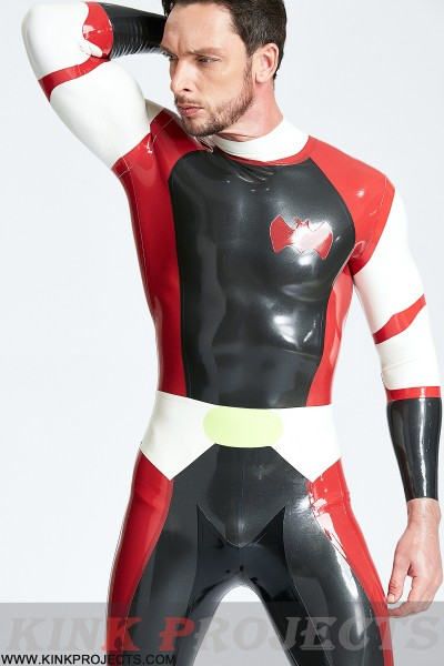 (Stock Clearance) Male 'Cdr Batwing' Back Zip Catsuit