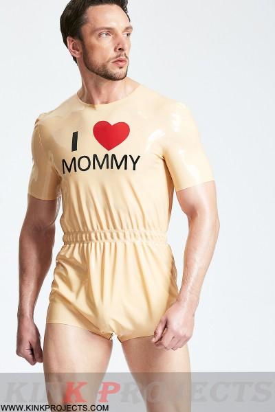 Male 'Mommy's Boy' Neck Entry Sleepsuit