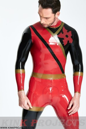 (Stock Clearance) Male 'Cogwheel' Insignia Catsuit