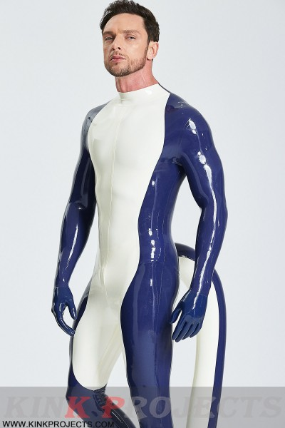 Male 'Purr-fect' Inflated Tail Catsuit With Feet & Gloves