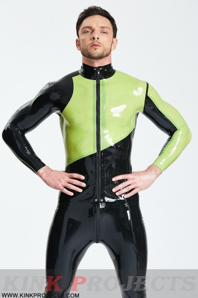 Male Asymmetric Long-Sleeved Tight-fitting Jacket