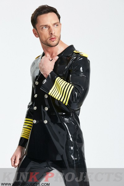 (Stock Clearance) Male Military Style Double-Breasted Short Coat