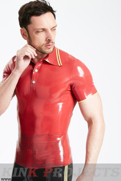 Male Studded Closure Polo T-Shirt