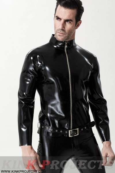 Male Front Zip Motorcycle Jacket