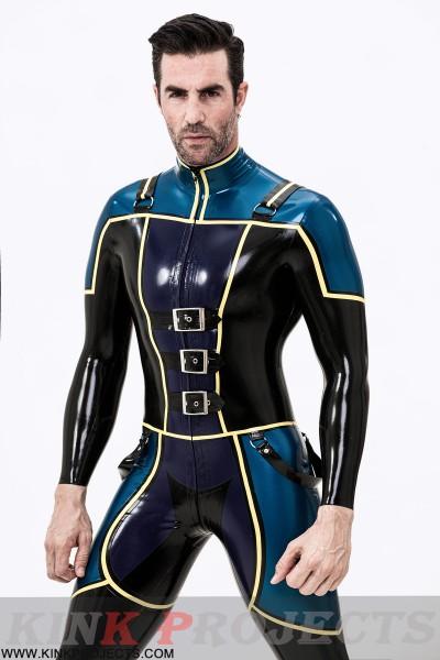 Male Blue Badge Gendarme Style Catsuit