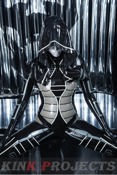 'Heloise' Hooded Catsuit