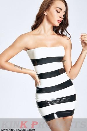 (Stock Clearance) Striped Strapless Mini Dress