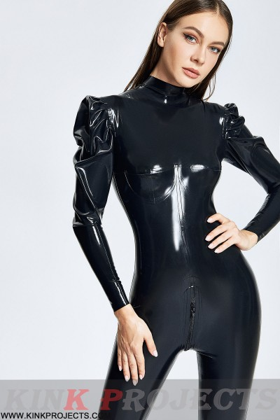 Puffy-sleeved Catsuit