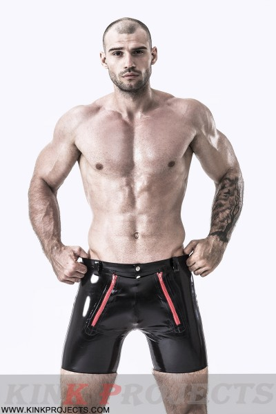 Male Front Double Zip Shorts