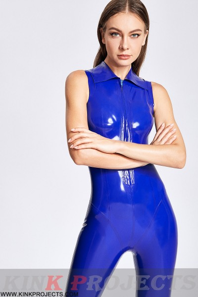 (Stock Clearance) Secretarial Look Sleeveless Catsuit
