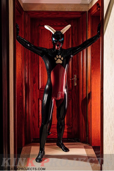 Male 'Devil-Dog' Inflatable Tail Catsuit