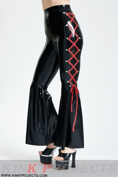 Side-Laced Full-Length Disco Pants