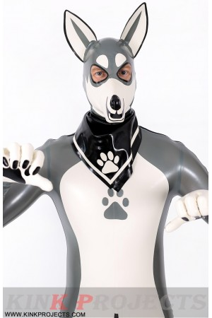 Male Grey Donkey Latex Catsuit
