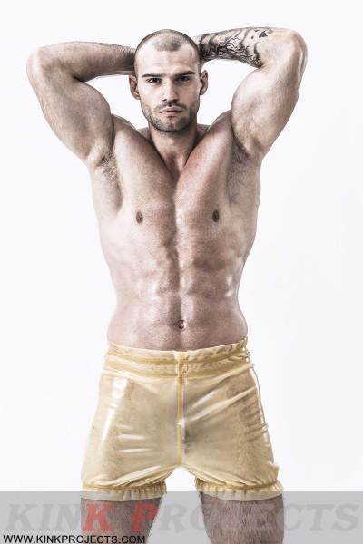 Male Natural Latex Elasticated Panties