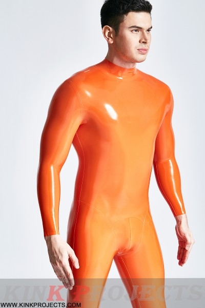 Male 'Muscle Mania' Back Zip Catsuit