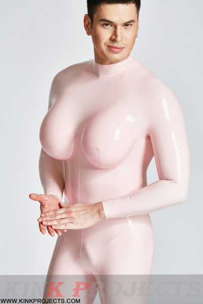 Male Silicone Big Boobs Catsuit
