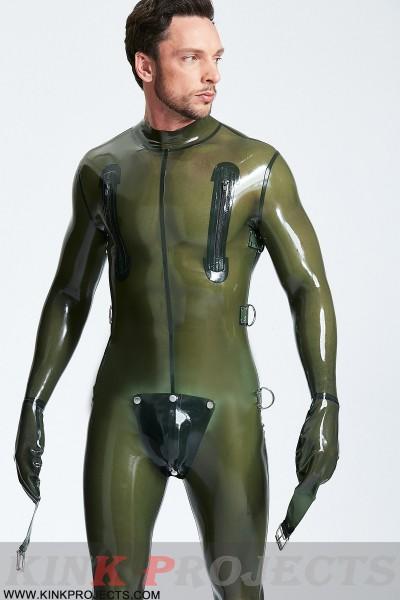 Male Multi-Use Bondage Codpiece Catsuit